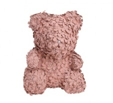 Rose Bear Vintage Puce with crystals 37εκ