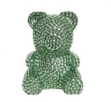 Rose Bear Green with crystals 37εκ